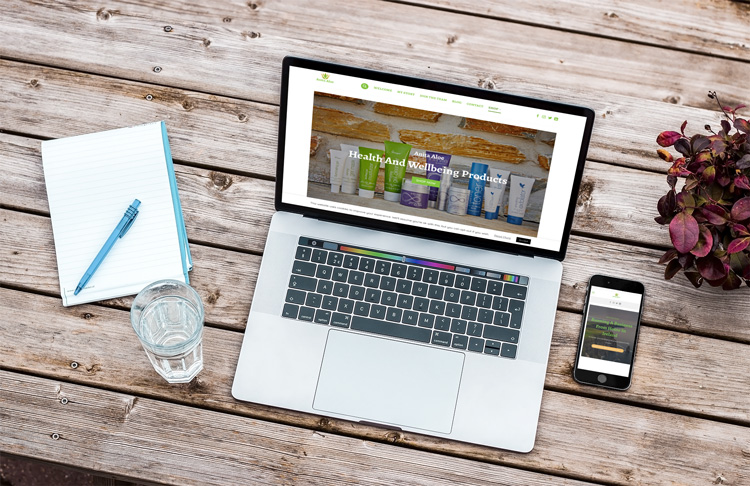 Website Design & Build - Health & Wellbeing Products